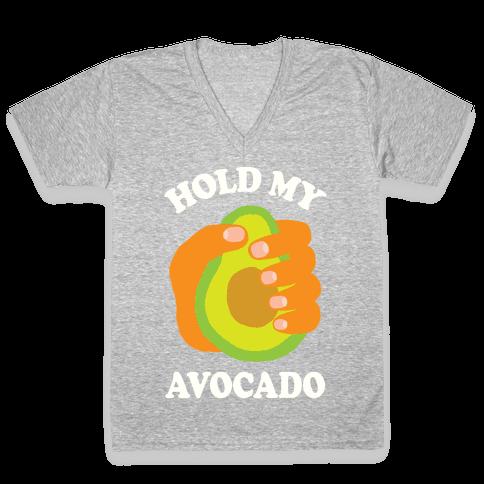 Hold My Avocado V-Neck Tee Shirt