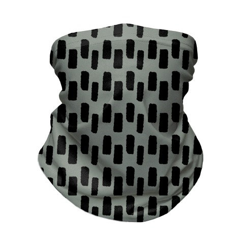 Organic Rectangle Pattern Grey Neck Gaiter