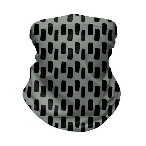 Organic Rectangle Pattern Grey Neck Gaiter