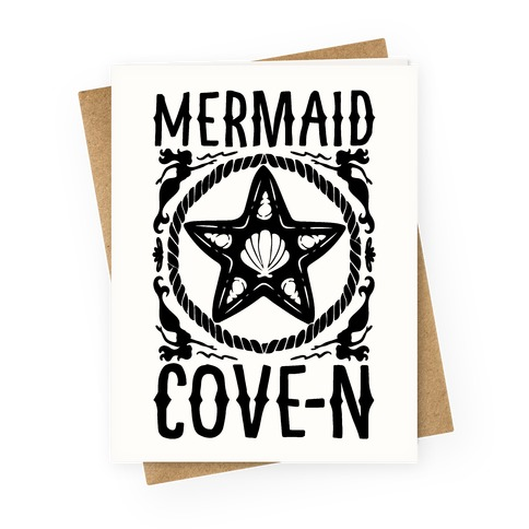 Mermaid Cove-n Greeting Card