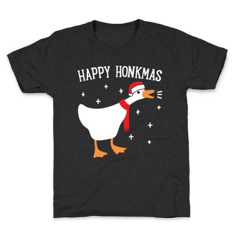 Happy Honkmas Goose Kids T-Shirt