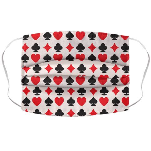 Card Deck Symbols Pattern Face Mask Cover