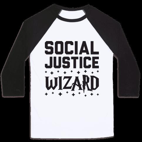 Social Justice Wizard Baseball Tee