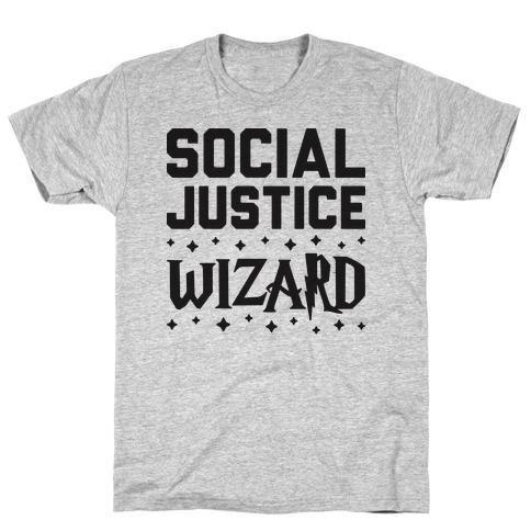 Social Justice Wizard Mens T-Shirt