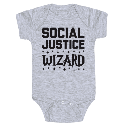 Social Justice Wizard Baby Onesy