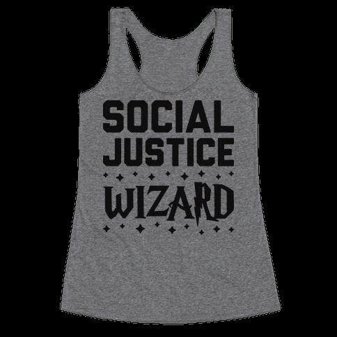 Social Justice Wizard Racerback Tank Top