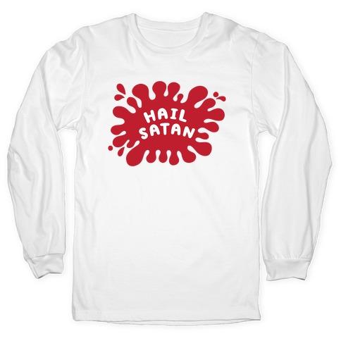 Hail Satan Splat Long Sleeve T-Shirt