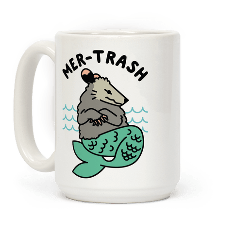 Mer-Trash Opossum Coffee Mug