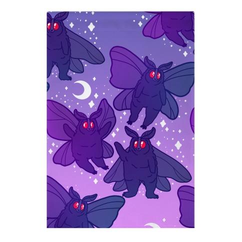 Chubby Mothman Nighttime Pattern Garden Flag