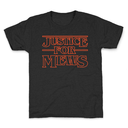 Justice For Mews White Print Kids T-Shirt