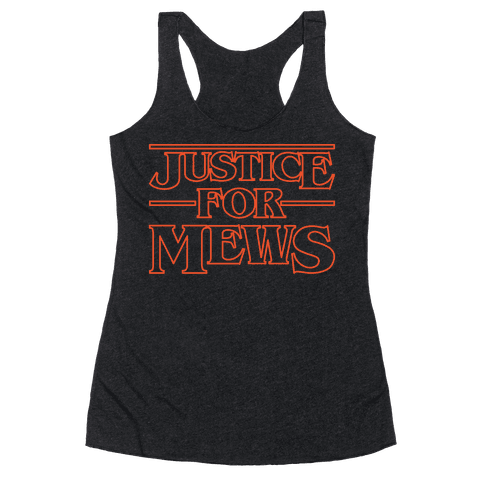 Justice For Mews White Print Racerback Tank Top