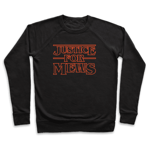 Justice For Mews White Print Pullover