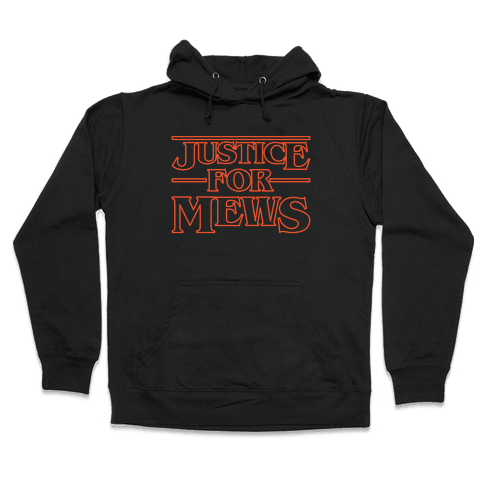 Justice For Mews White Print Hooded Sweatshirt