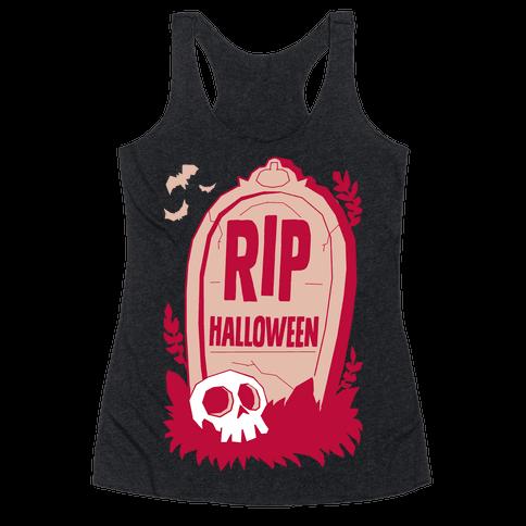 RIP Halloween Racerback Tank Top