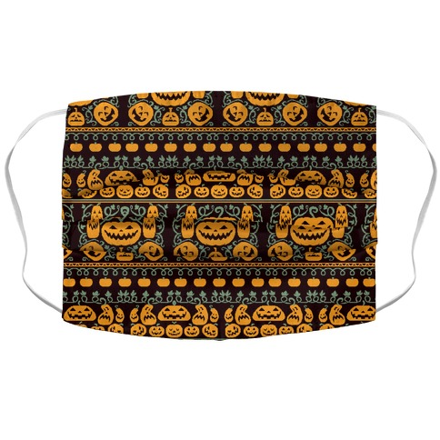 Ugly Pumpkin Sweater Accordion Face Mask