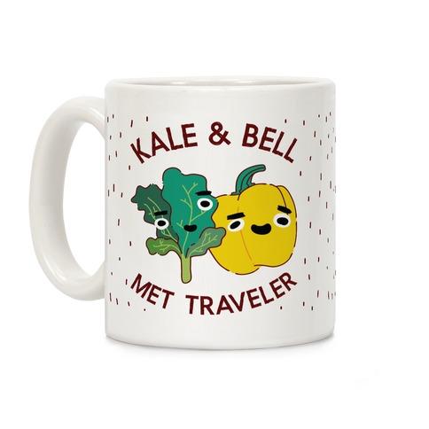 Kale and bell Met, Traveler Coffee Mug