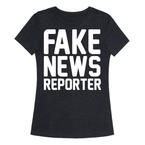Fake News Reporter White Print