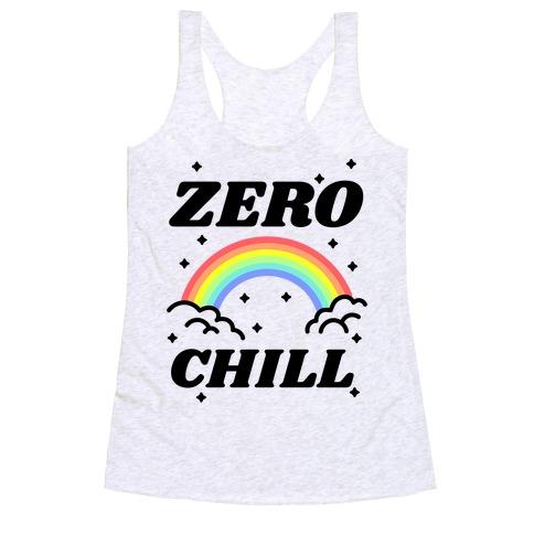 Zero Chill Rainbow Racerback Tank Top
