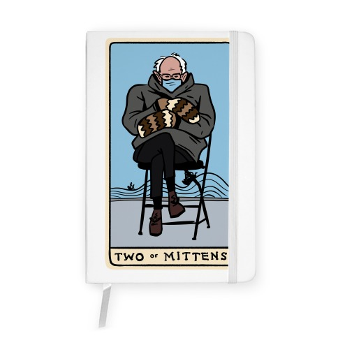 Two of Mittens (Bernie Tarot Parody) Notebook