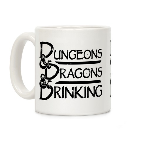 Dungeons & Dragons & Drinking Coffee Mug