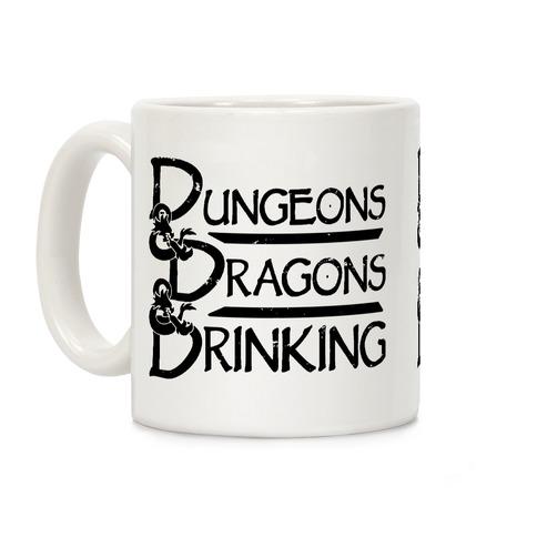 Dungeons & Dragons & Drinking Coffee Mug