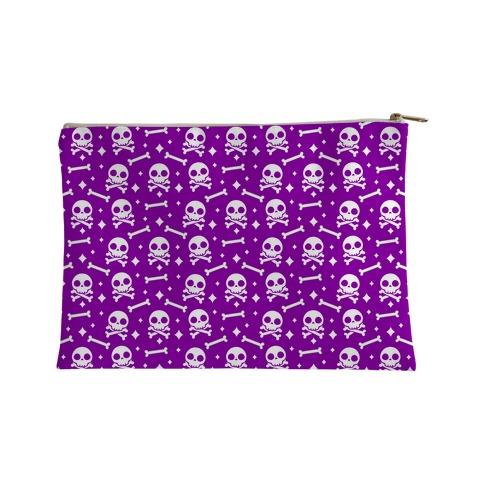 Cute Skull N' Bones Pattern (Purple) Accessory Bag