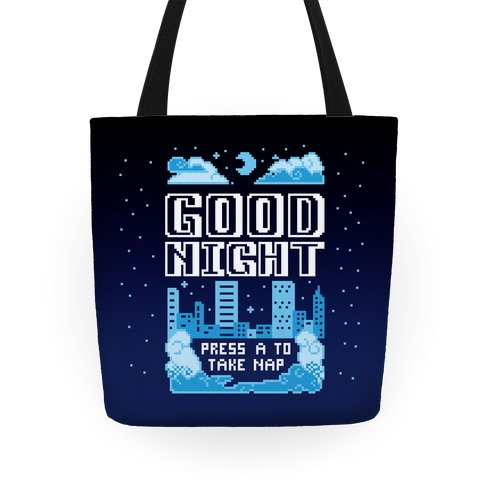 Good Night Game Over Screen Tote