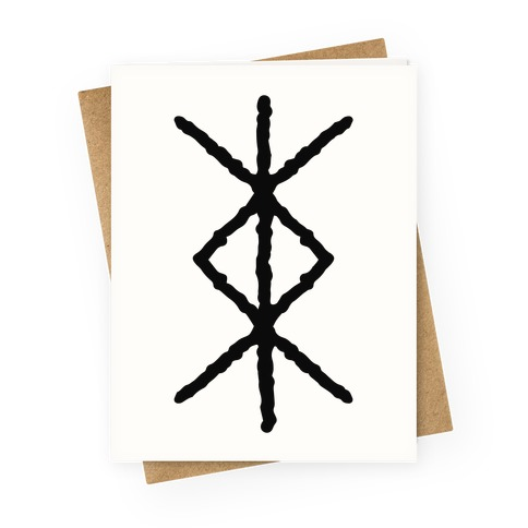 Protection Rune Greeting Card