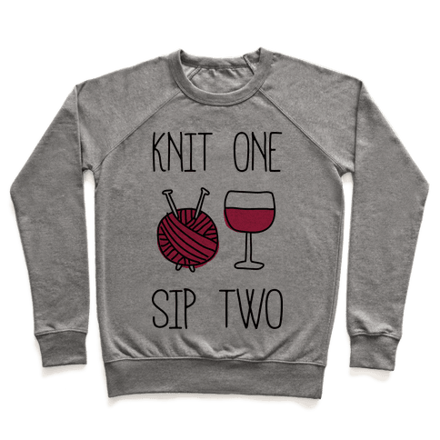 Knit One Sip Two Pullover