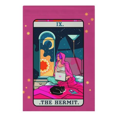 Hermit Tarot Card Garden Flag