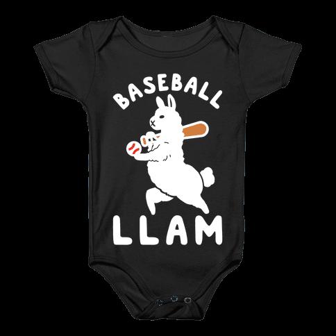 Baseball Llam Baby Onesy