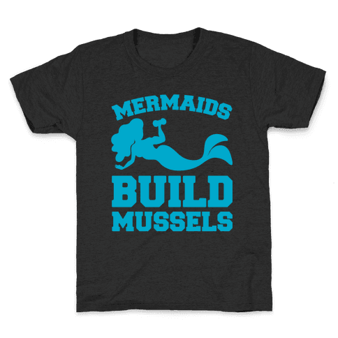 Mermaids Build Mussels White Print Kids T-Shirt
