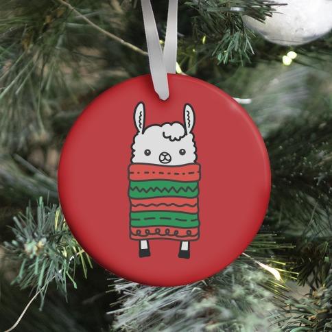 Long Llama Scarf Ornament