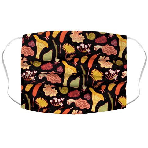 Forage Foral Pattern Accordion Face Mask