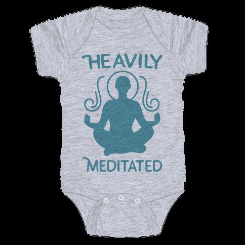 Heavily Meditated Baby Onesy
