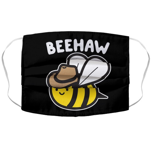 Beehaw Cowboy Bee Accordion Face Mask