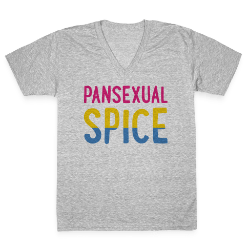 Pansexual Spice V-Neck Tee Shirt