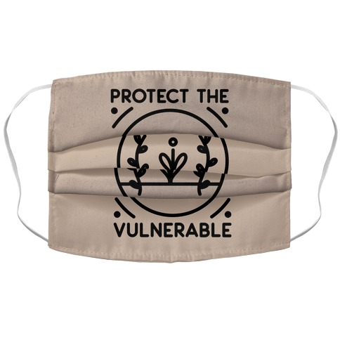 Protect The Vulnerable Accordion Face Mask