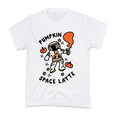 Pumpkin Space Latte Astronaut Kids T-Shirt