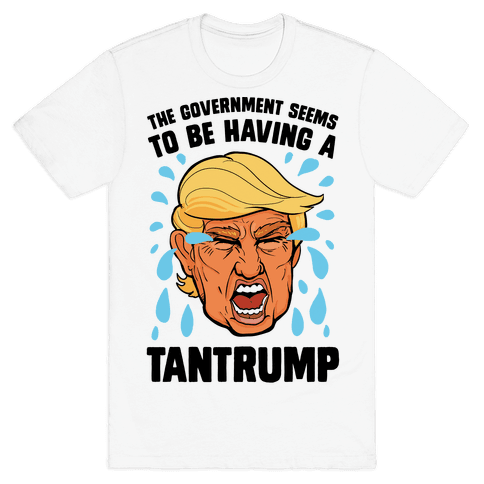 The Government Seems To Be Having A Tantrump Mens T-Shirt