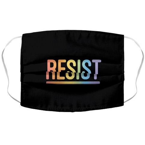 Rainbow Resist  Accordion Face Mask