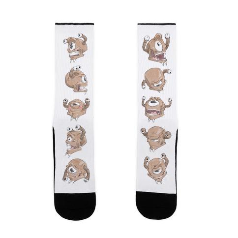 Beholder Expression Study Sock