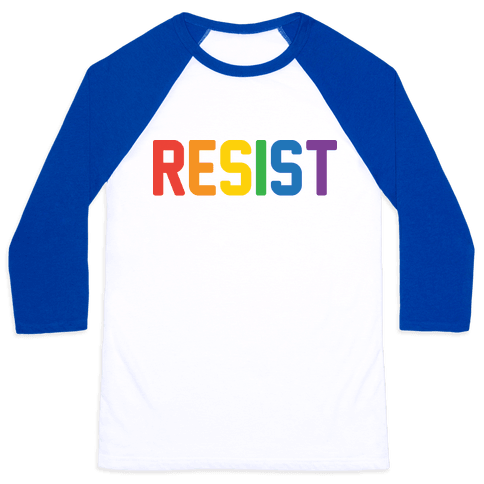 LGBTQ+ Resist Baseball Tee