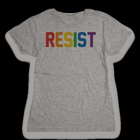 LGBTQ+ Resist Womens T-Shirt