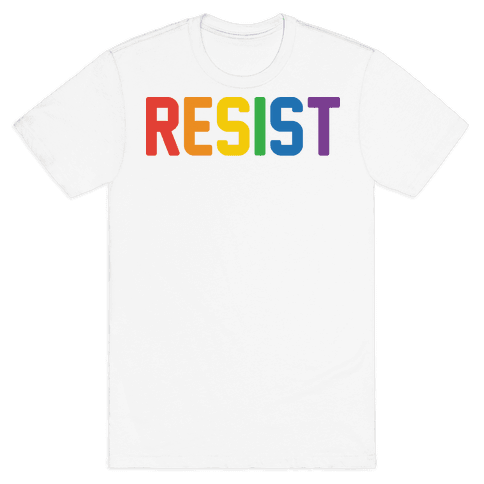 LGBTQ+ Resist Mens T-Shirt