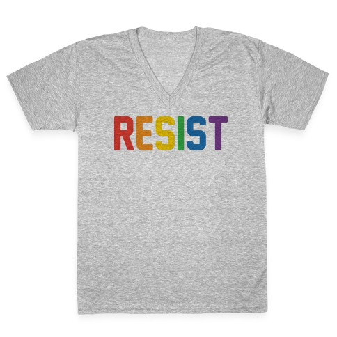 LGBTQ+ Resist V-Neck Tee Shirt