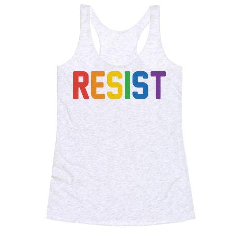 LGBTQ+ Resist Racerback Tank Top