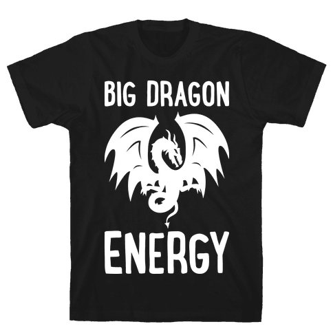 Big Dragon Energy Mens T-Shirt