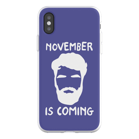 November Is Coming Parody Phone Flexi-Case