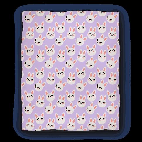 BunBun Pattern Lavender Blanket